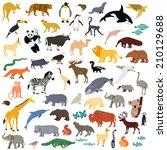 animal set | Shutterstock .eps vector #210129688