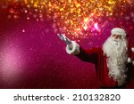 santa claus with gift bag... | Shutterstock . vector #210132820