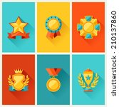background with trophy and...   Shutterstock .eps vector #210137860