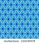 blue seamless rhombus pattern | Shutterstock .eps vector #210140578