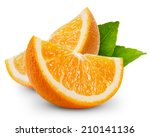 orange fruit slice isolated  | Shutterstock . vector #210141136