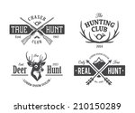 vector set of vintage hunting...   Shutterstock .eps vector #210150289