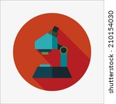 microscope flat icon with long... | Shutterstock .eps vector #210154030