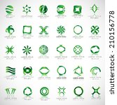 unusual icons set   isolated on ... | Shutterstock .eps vector #210156778