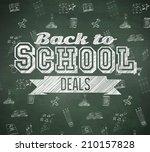 back to school deals message... | Shutterstock . vector #210157828