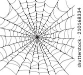 isolated spider web | Shutterstock .eps vector #210168334