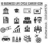 business career icons. vector... | Shutterstock .eps vector #210169570