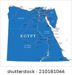 egypt map | Shutterstock .eps vector #210181066