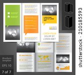 business vector brochure... | Shutterstock .eps vector #210185593
