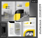 business vector brochure... | Shutterstock .eps vector #210185599