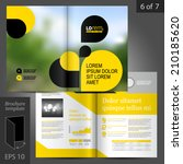 business vector brochure... | Shutterstock .eps vector #210185620