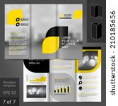 business vector brochure... | Shutterstock .eps vector #210185656