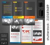 black classic vector brochure...   Shutterstock .eps vector #210185689