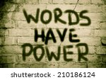 words have power concept | Shutterstock . vector #210186124