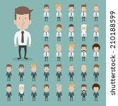 set of businessman characters... | Shutterstock .eps vector #210188599