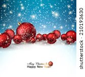 beautiful christmas red balls... | Shutterstock .eps vector #210193630