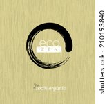 eco zen circle on organic... | Shutterstock .eps vector #210193840