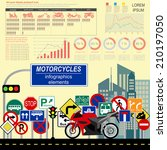 set of motorcycles elements ... | Shutterstock .eps vector #210197050