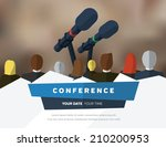 conference template... | Shutterstock .eps vector #210200953