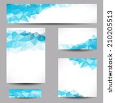 Set Of Templates With Abstract...