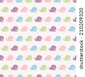 seamless vector pattern with... | Shutterstock .eps vector #210209320