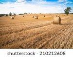 Straw Bales In Summer