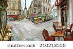 Street In Paris   Illustration