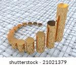 3d business statistics | Shutterstock . vector #21021379