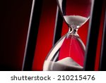 egg timer or hourglass on a...