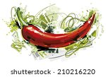 chili pepper | Shutterstock .eps vector #210216220