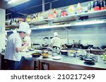 motion chefs of a restaurant... | Shutterstock . vector #210217249