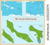 map of the aruba  bonaire ... | Shutterstock .eps vector #210221074