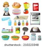 illustration of a set of food... | Shutterstock .eps vector #210223348