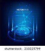 technology futuristic circuit... | Shutterstock .eps vector #210225799