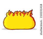 cartoon fire border | Shutterstock .eps vector #210231418