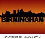 birmingham skyline reflected...   Shutterstock .eps vector #210231940