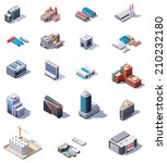 vector isometric factory and...   Shutterstock .eps vector #210232180