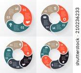 vector circle arrows for... | Shutterstock .eps vector #210236233