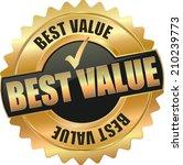 gold best value sign | Shutterstock .eps vector #210239773