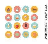 icons dessert | Shutterstock .eps vector #210241666