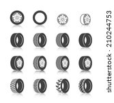 auto service shop wheels disks... | Shutterstock .eps vector #210244753