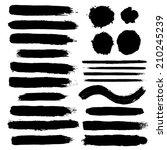 vector set of grunge brush...   Shutterstock .eps vector #210245239