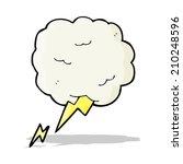cartoon thundercloud symbol   Shutterstock . vector #210248596