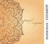 ornate vintage hand drawn gold... | Shutterstock .eps vector #210268039