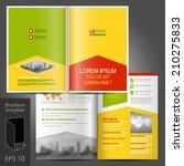 color business vector brochure... | Shutterstock .eps vector #210275833