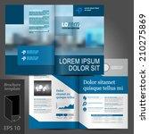 blue business vector brochure...   Shutterstock .eps vector #210275869