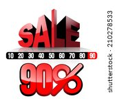 sale 90   vector illustration... | Shutterstock .eps vector #210278533