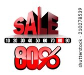 sale 80   vector illustration... | Shutterstock .eps vector #210278539