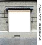 large blank billboard in city... | Shutterstock . vector #210279910