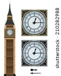 Landmark Big Ben And The Clock...